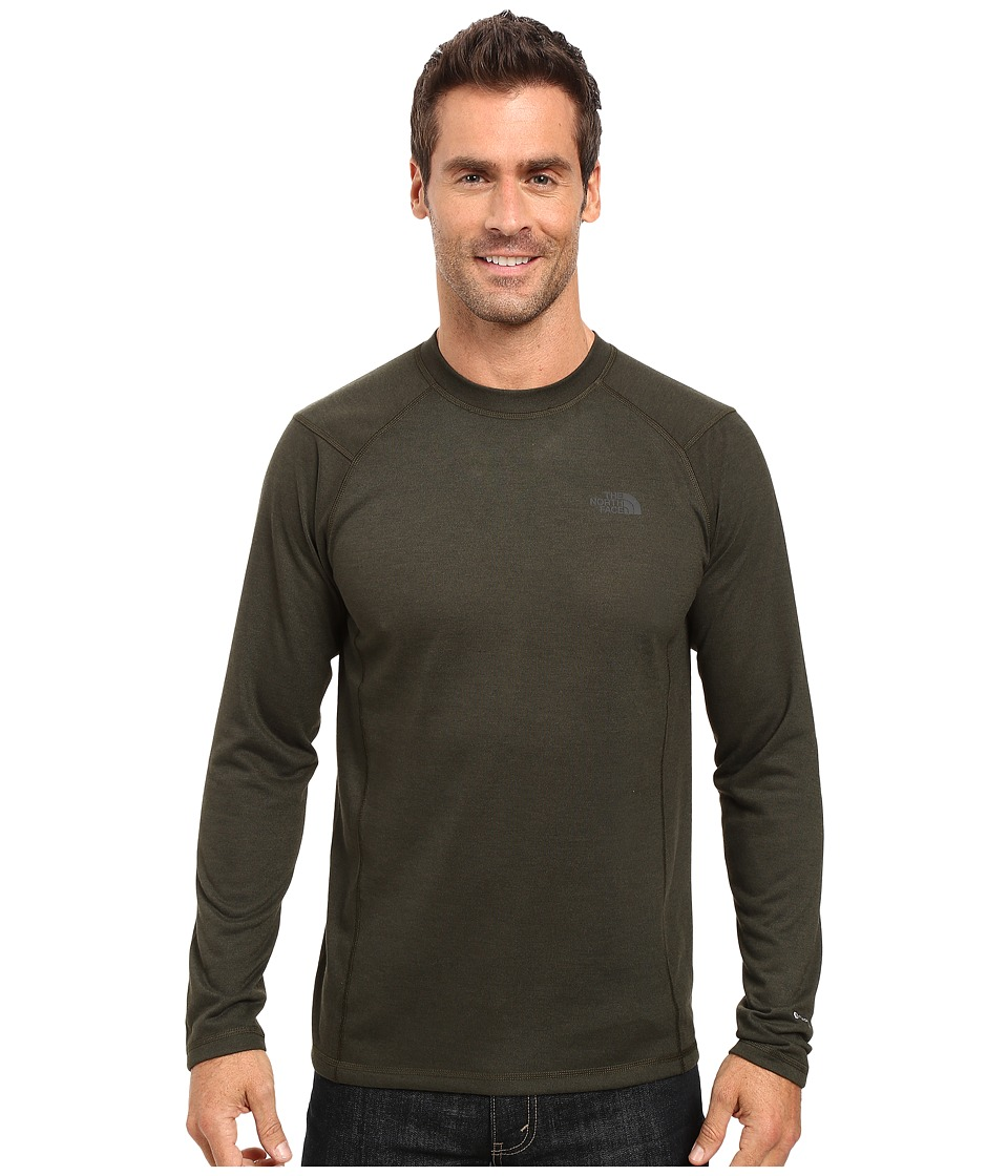The North Face - Long Sleeve FlashDry Crew (Rosin Green/Black Heather) Men's Sweatshirt