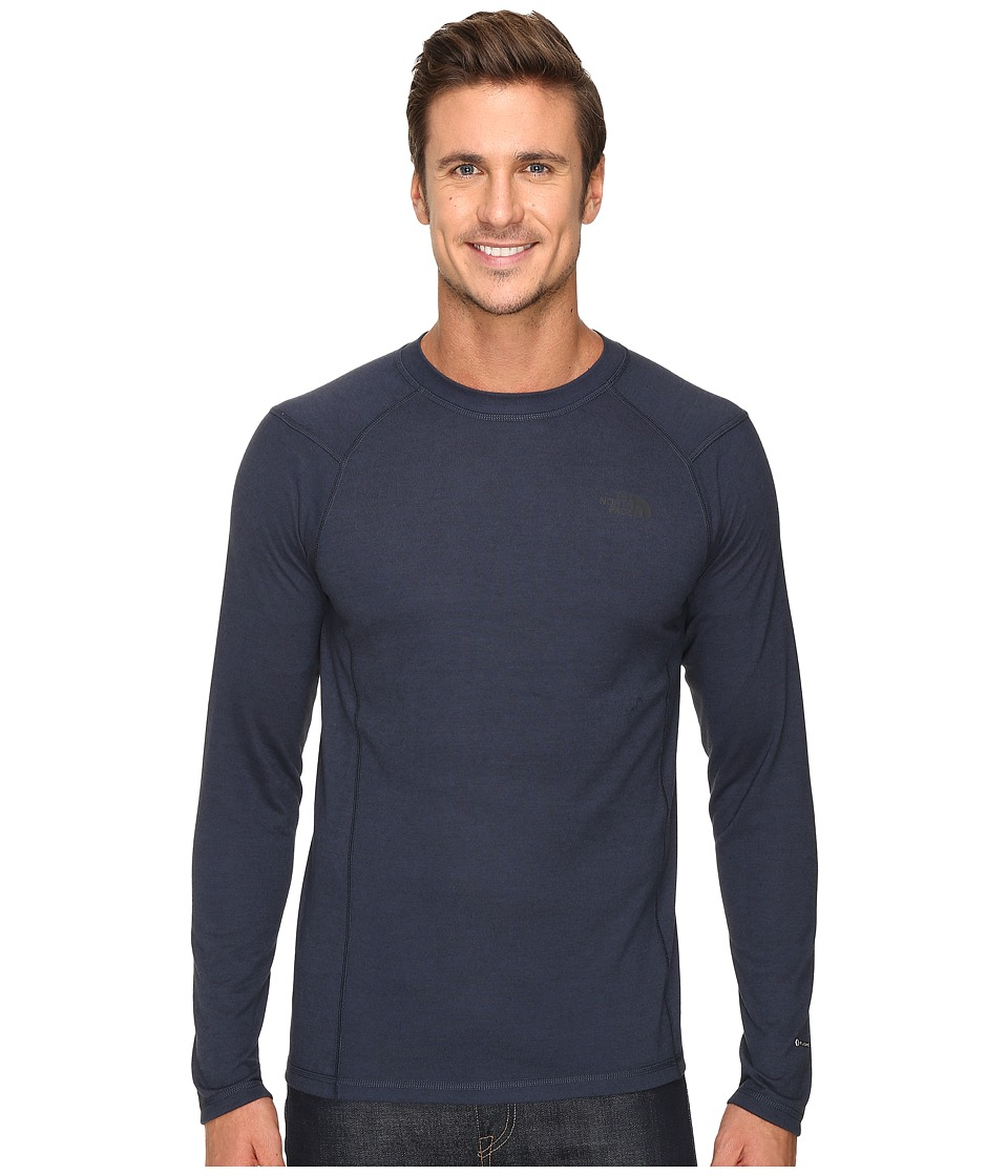 The North Face - Long Sleeve FlashDry Crew (Urban Navy/Black Heather) Men's Sweatshirt