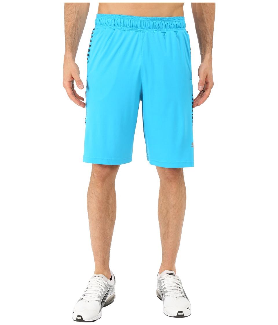 PUMA - Knit Graphic Shorts (Atomic Blue/Asphalt) Men's Shorts