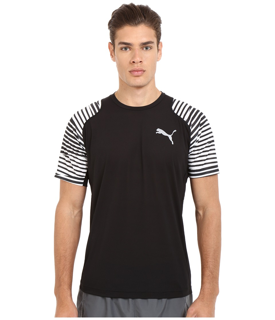PUMA - Vent Graphic Tee (Black/White) Men's T Shirt