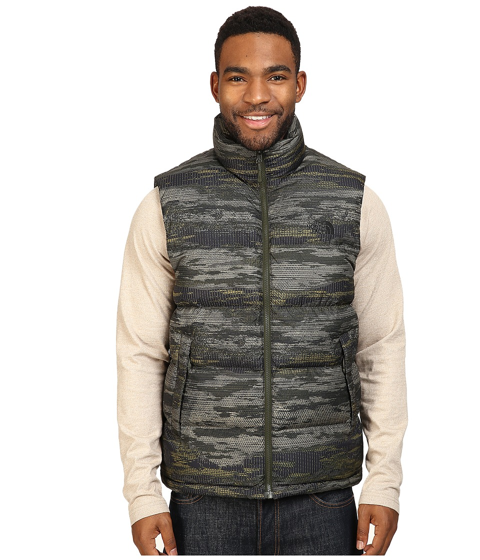 The North Face Nuptse Vest (Rosin Green Glamo Print/Rosin Green Glamo Print) Men