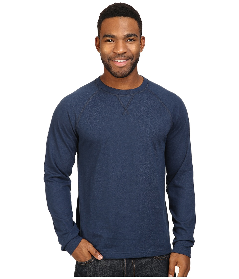 The North Face - Long Sleeve Copperwood Crew (Urban Navy Heather) Men's Clothing