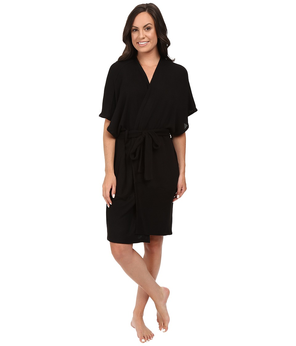 Midnight by Carole Hochman - Lounge Cocoon Robe (Black) Women's Robe