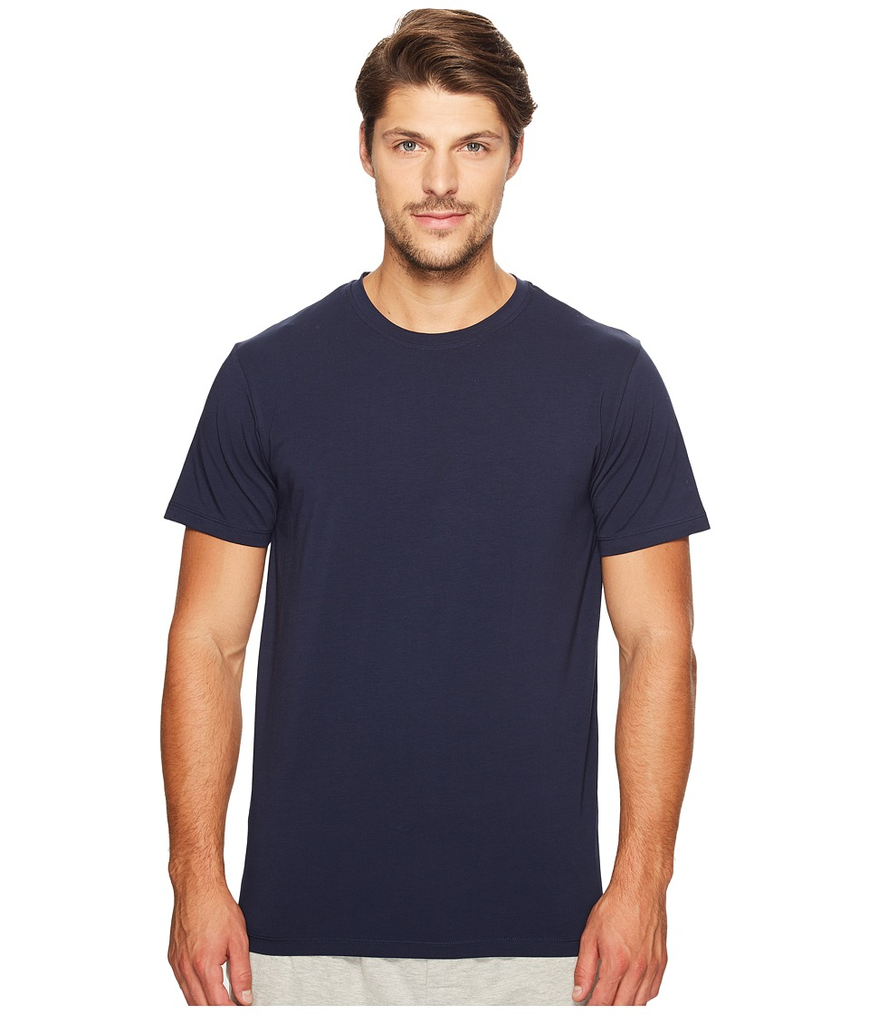 SAXX UNDERWEAR - 3SIX FIVE Short Sleeve Crew Neck T-Shirt (Navy) Men's Underwear