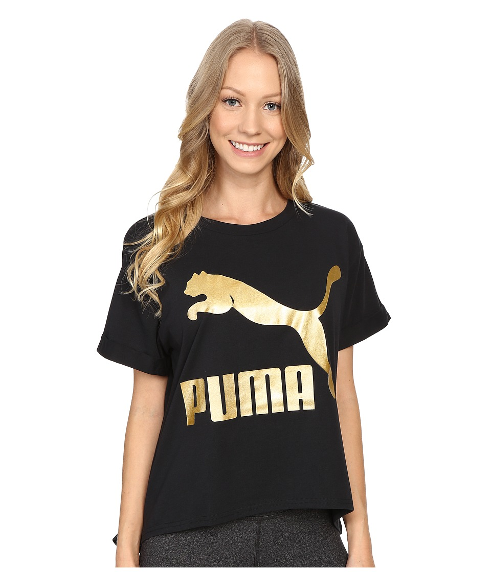 PUMA - Story Tee (Black) Women's T Shirt