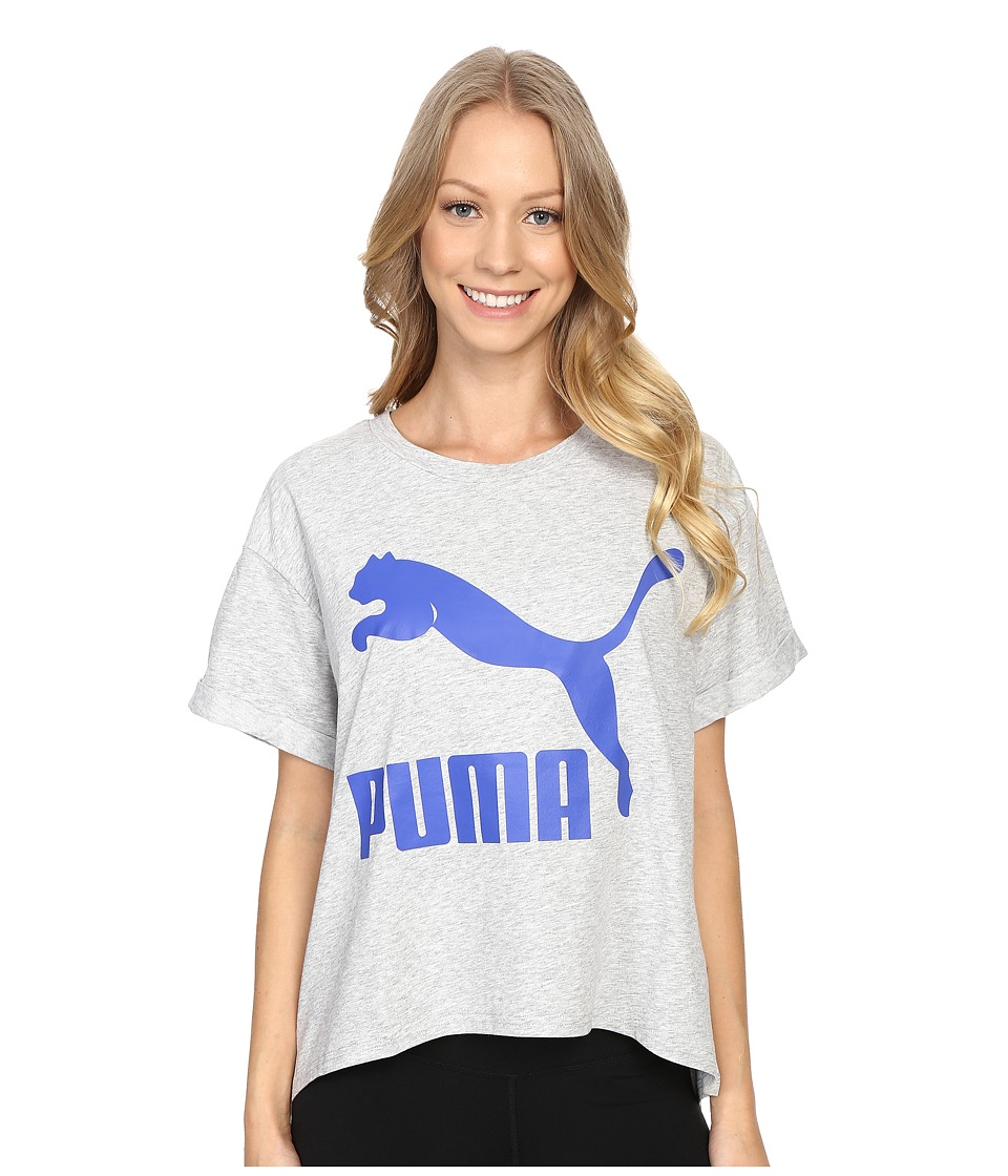 PUMA - Story Tee (Light Gray Heather) Women