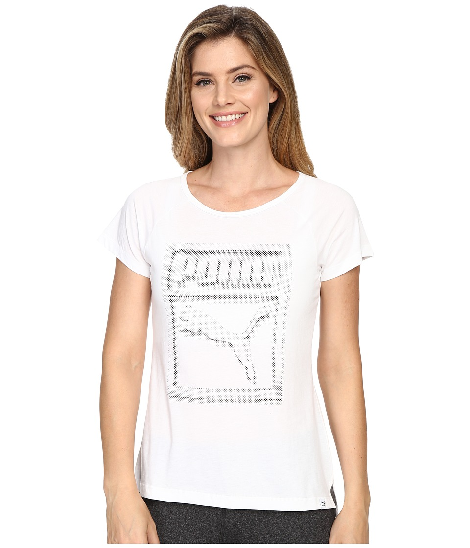 PUMA - Brand Tee Plus (White) Women
