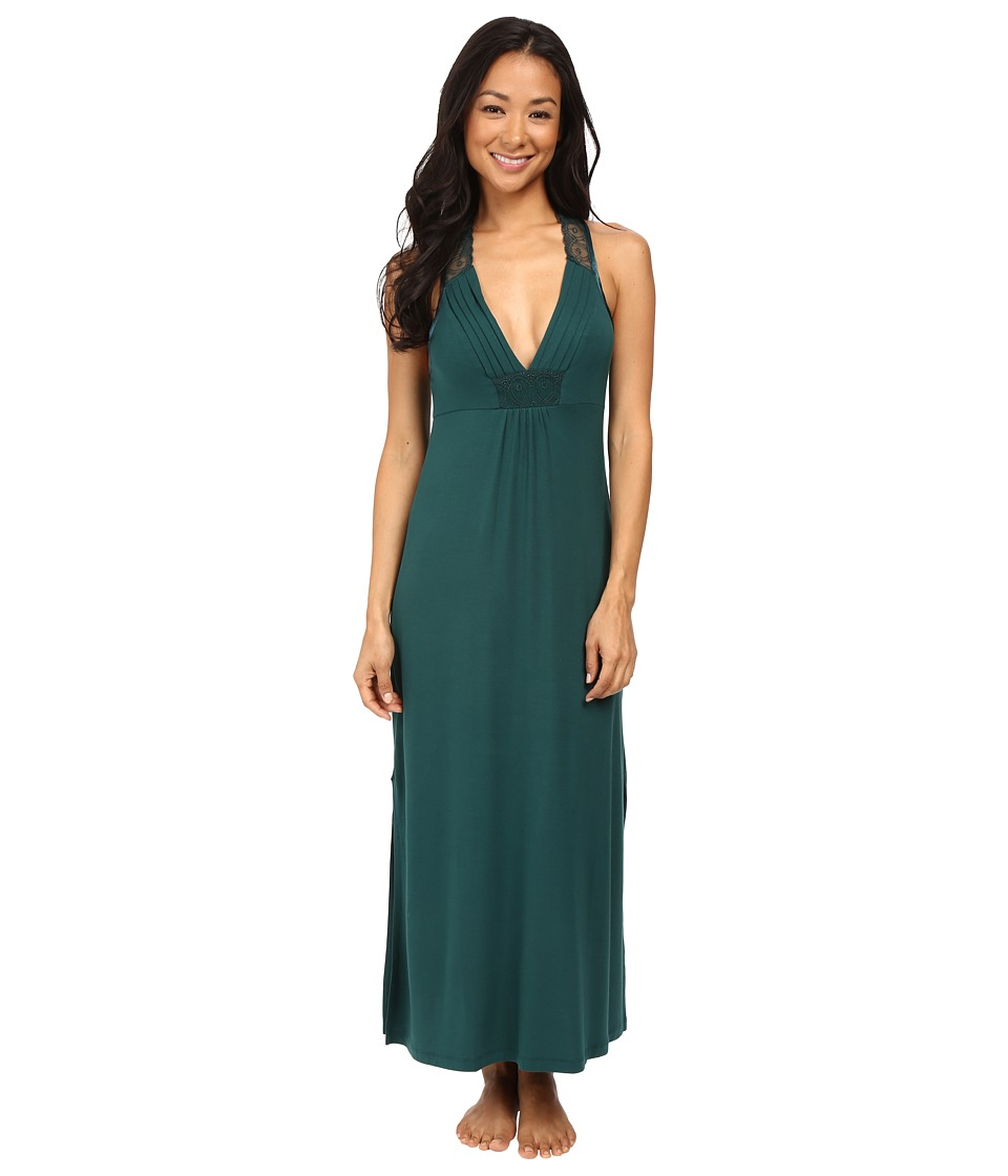 Midnight by Carole Hochman - Long Gown (Green) Women's Pajama