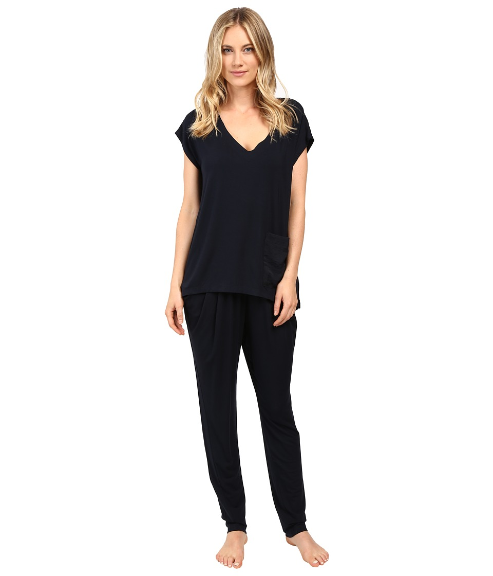 Midnight by Carole Hochman - Modal Short Sleeve Pajama (Midnight) Women's Pajama Sets