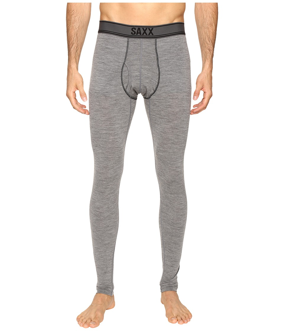 SAXX UNDERWEAR - Blacksheep Long John Fly (Charcoal Heather) Men's Underwear