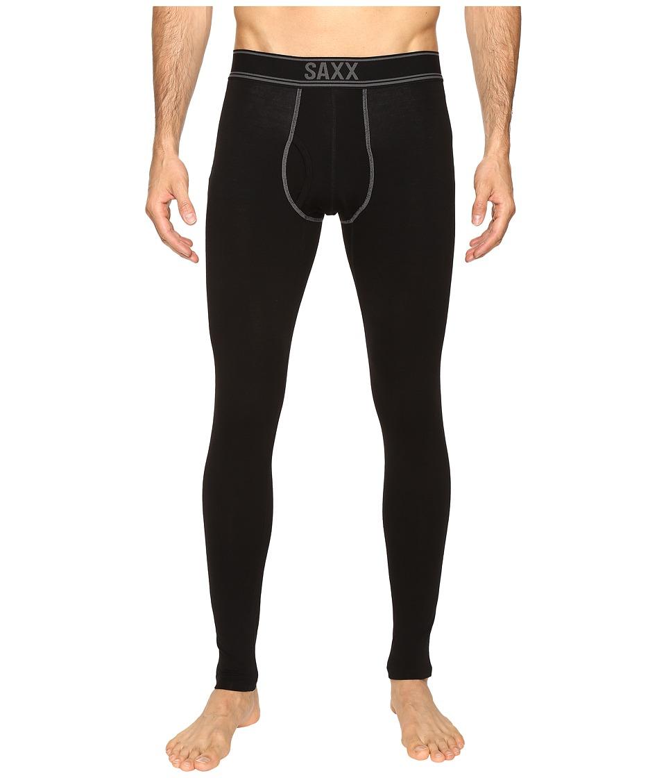 SAXX UNDERWEAR - Blacksheep Long John Fly (Black Heather) Men's Underwear
