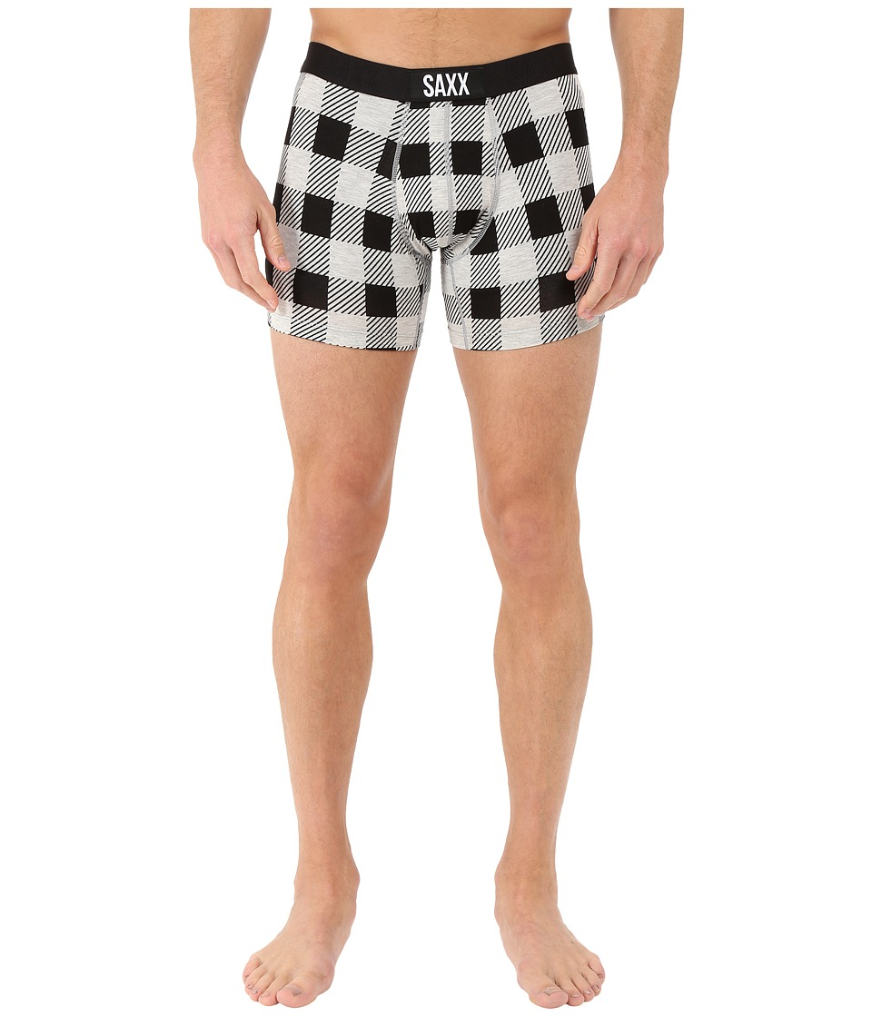 SAXX UNDERWEAR - Vibe Boxer Modern Fit (Hunter Plaid) Men's Underwear