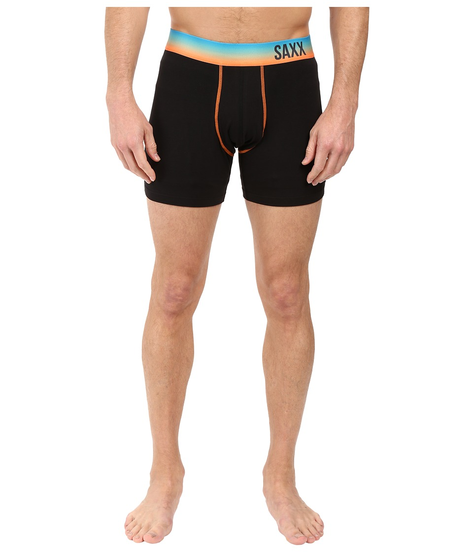 SAXX UNDERWEAR - Fiesta Boxer (Black/Sunset) Men's Underwear