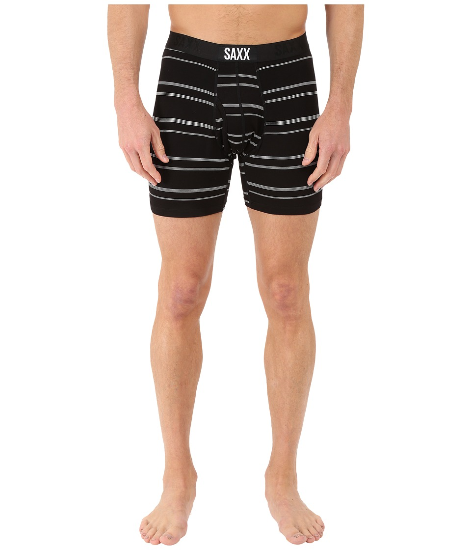SAXX UNDERWEAR - Ultra Boxer Fly (Chief Stripe Black) Men's Underwear