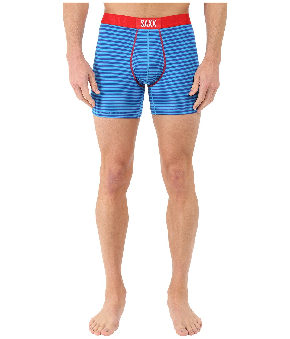 SAXX UNDERWEAR - Vibe Boxer Modern Fit (Mariner Stripe) Men's Underwear