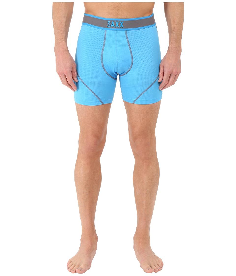 SAXX UNDERWEAR - Kinetic Boxer (Malibu Steel) Men's Underwear