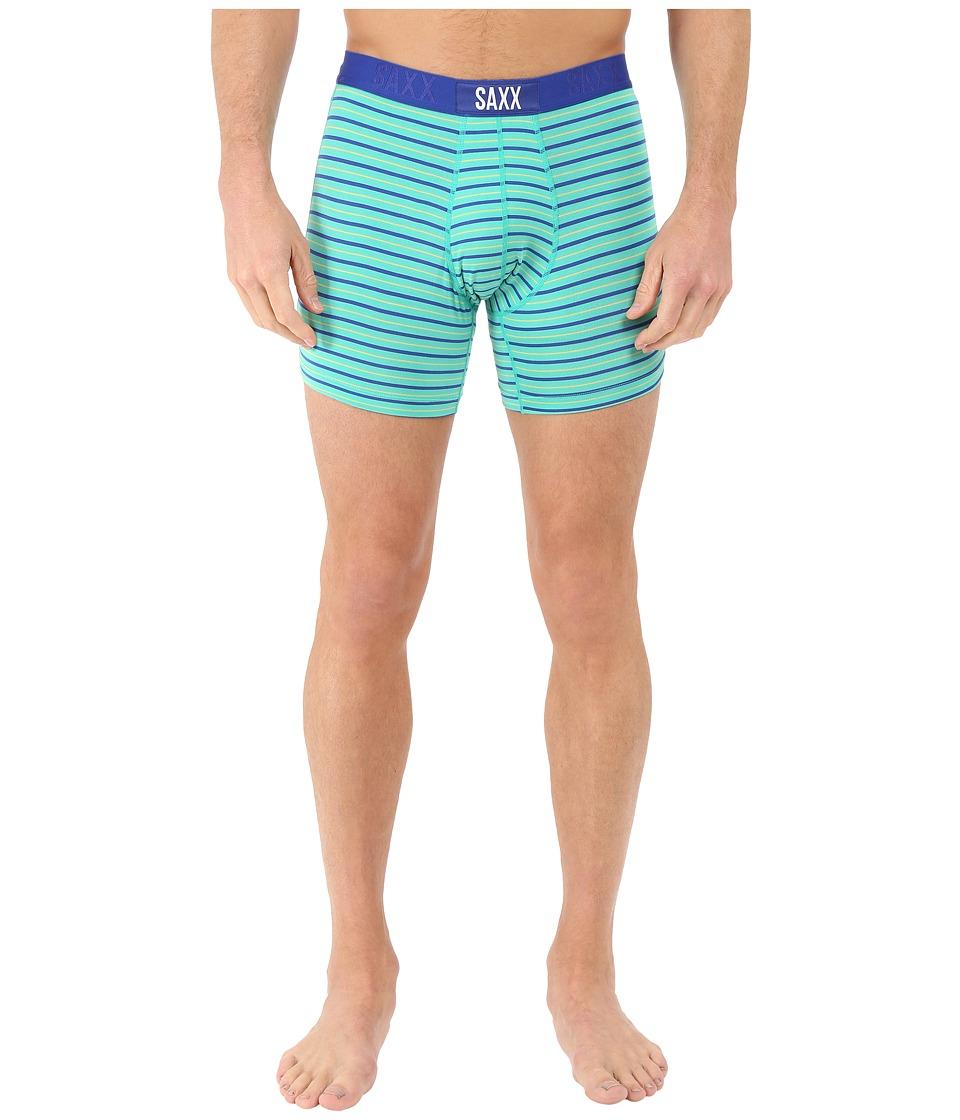 SAXX UNDERWEAR - Vibe Boxer Modern Fit (Outback Stripe) Men's Underwear