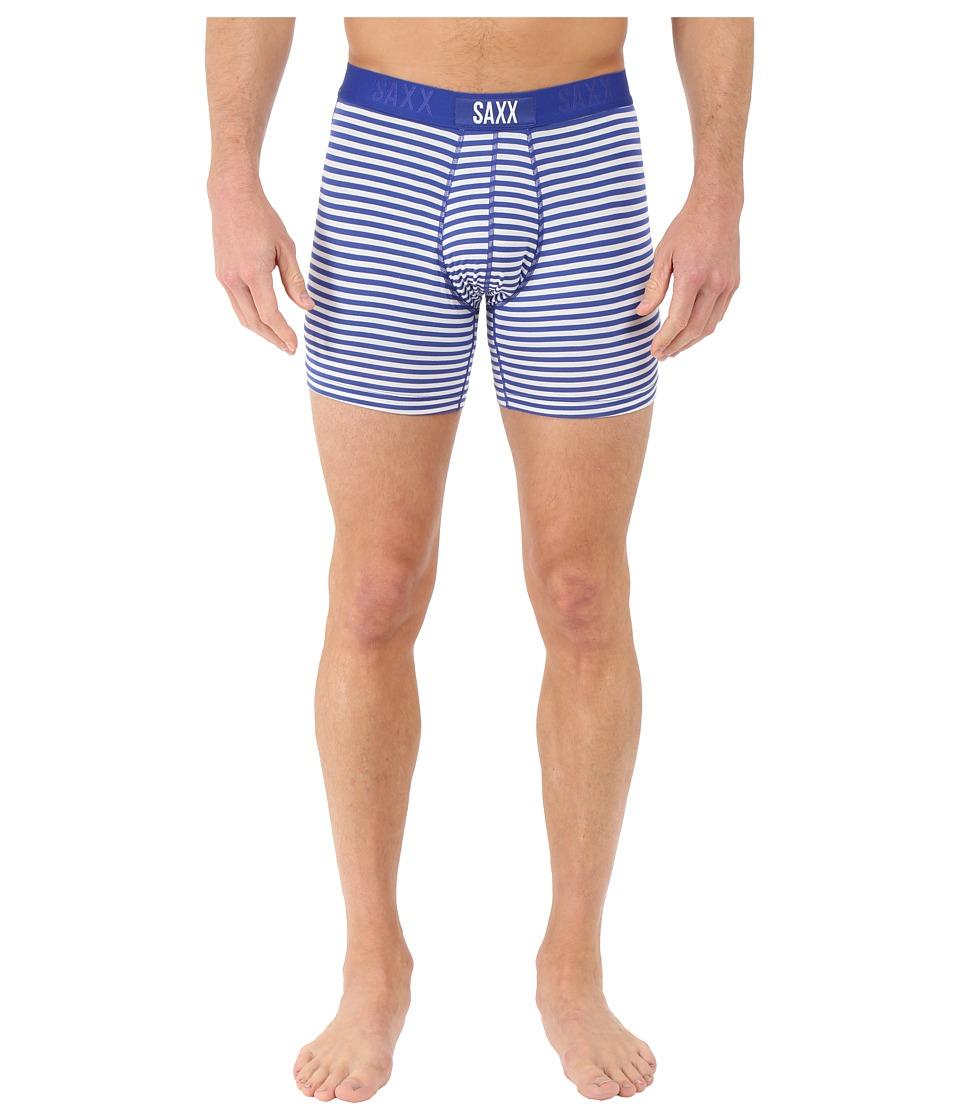 SAXX UNDERWEAR - Vibe Boxer Modern Fit (Navigator Stripe) Men's Underwear
