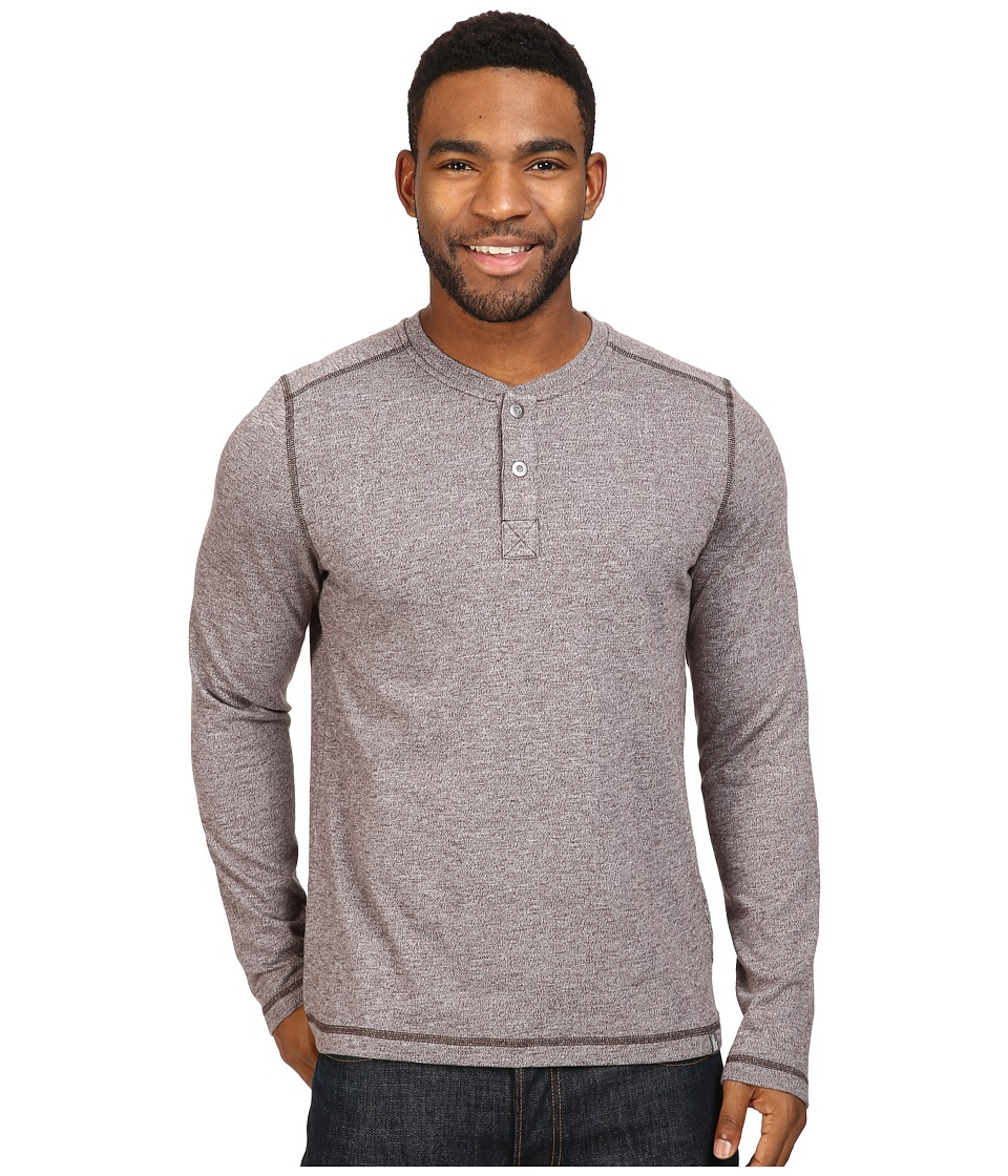 The North Face Long Sleeve Copperwood Henley (Bittersweet Brown Heather) Men