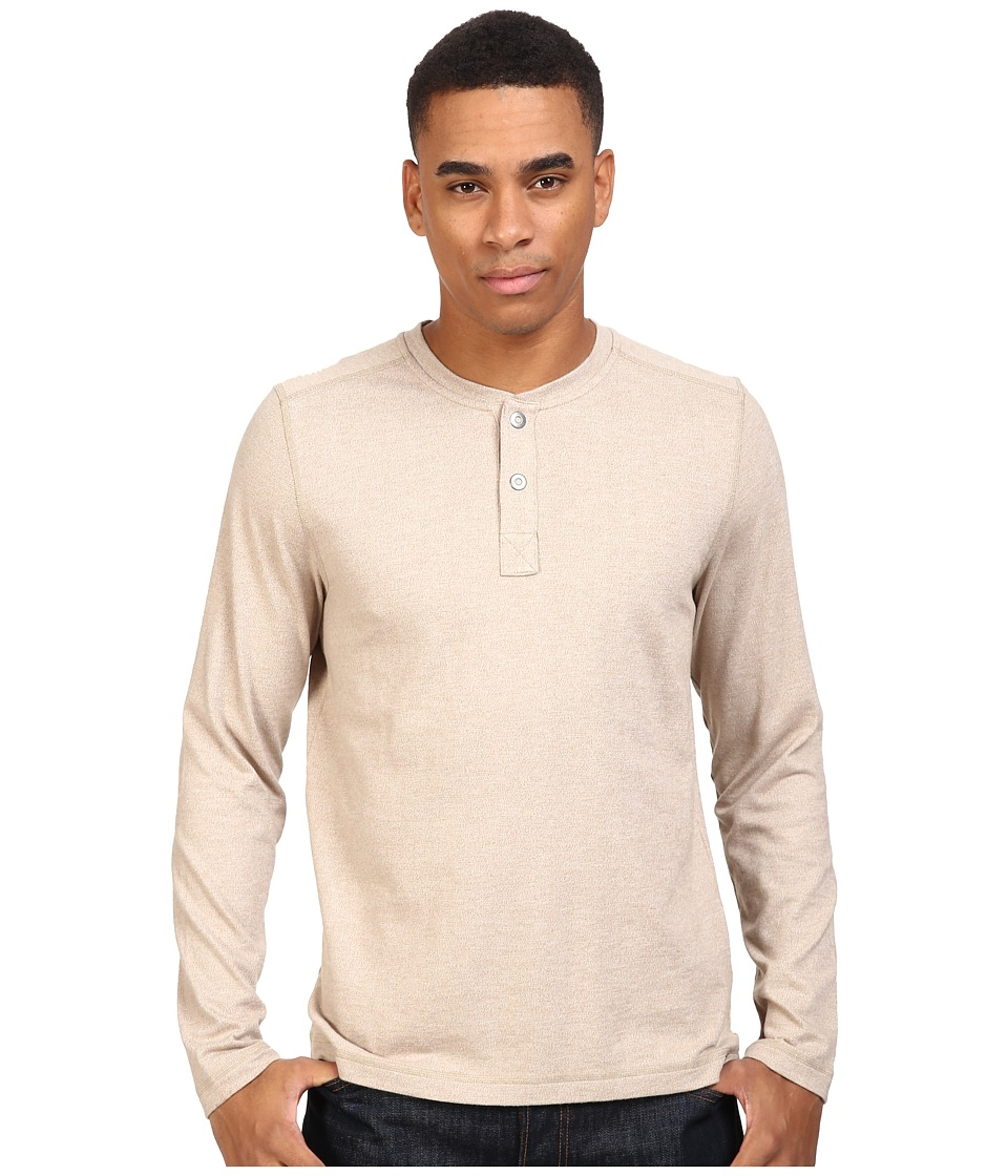The North Face Long Sleeve Copperwood Henley (Dune Beige Heather) Men