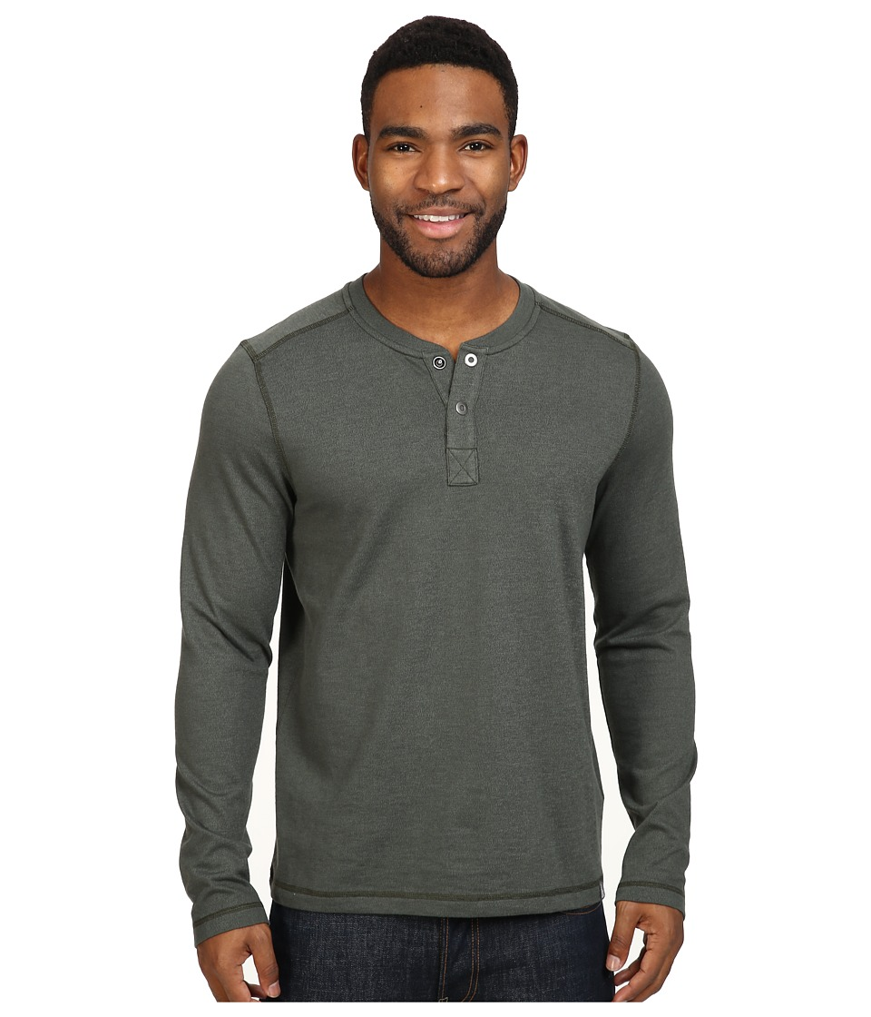 The North Face Long Sleeve Copperwood Henley (Rosin Green Heather) Men