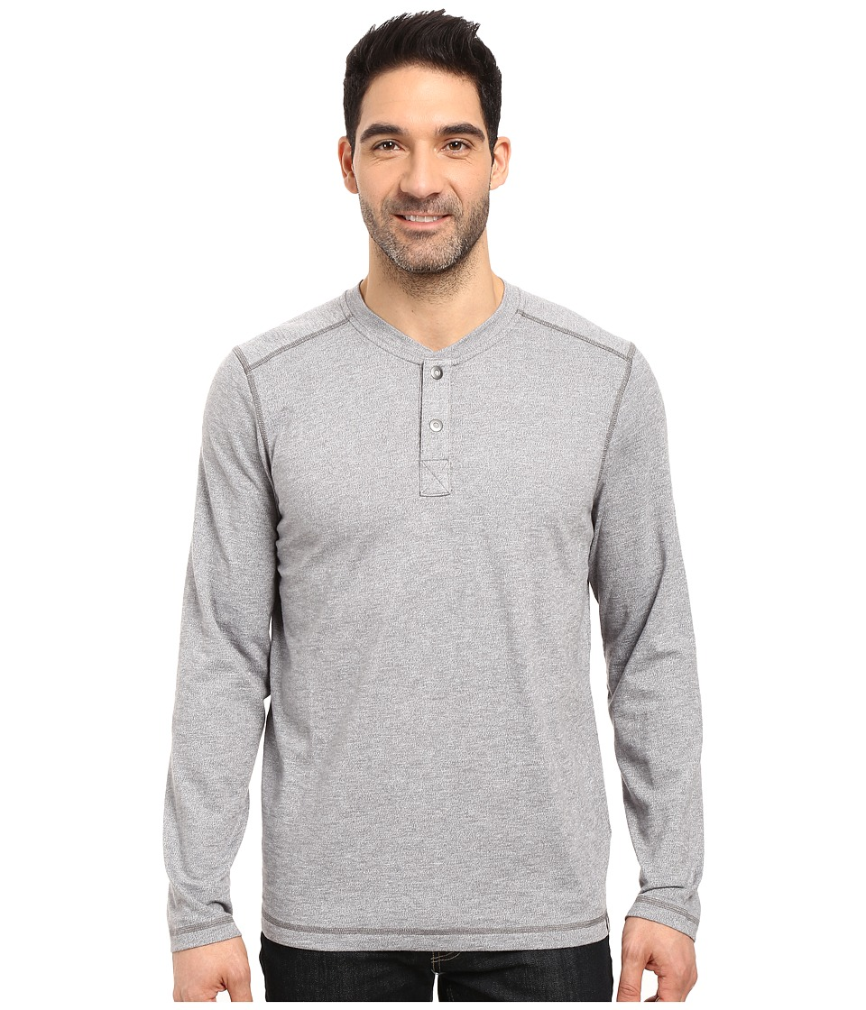 The North Face Long Sleeve Copperwood Henley (Zinc Grey Heather) Men