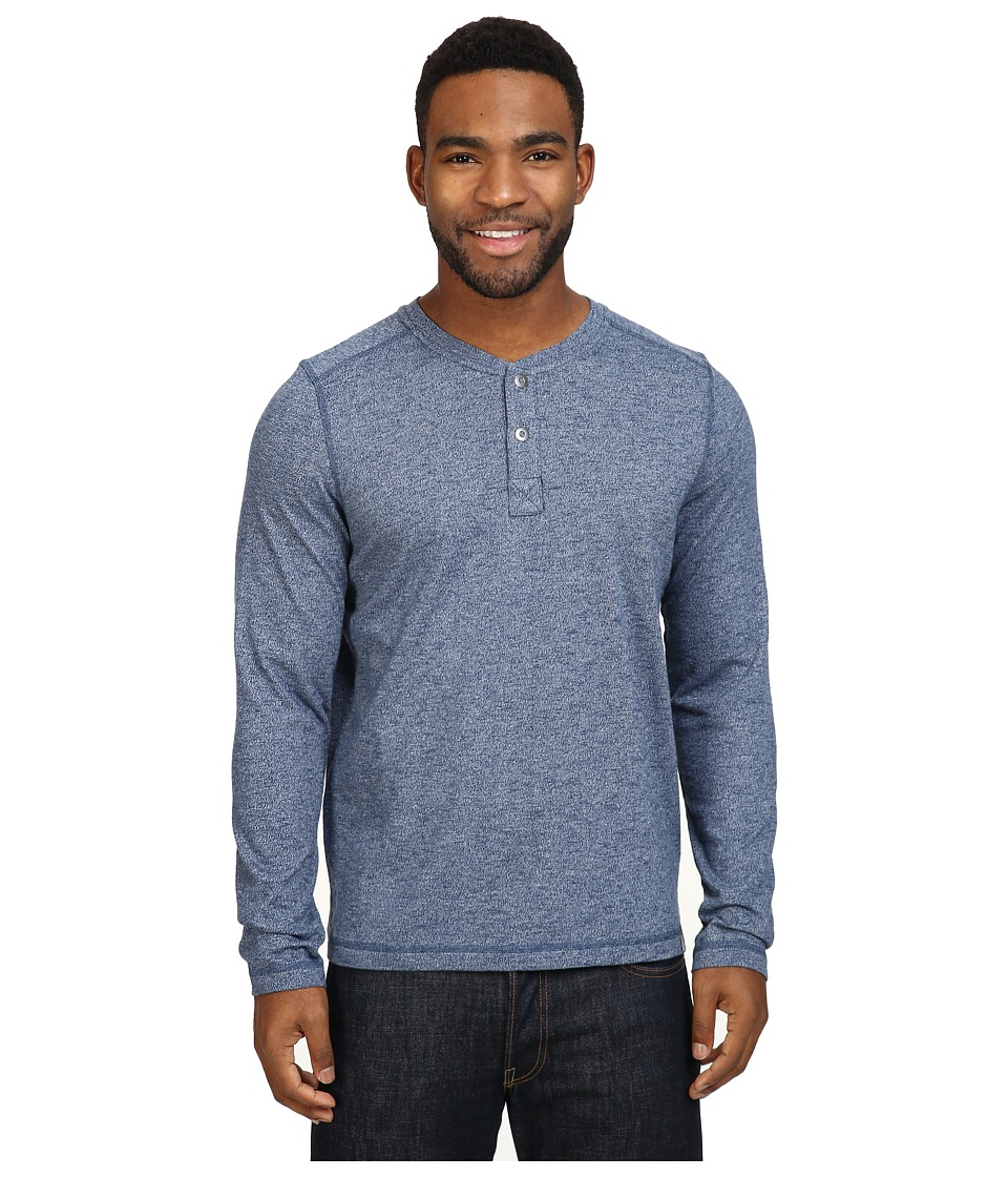 The North Face Long Sleeve Copperwood Henley (Shady Blue Heather) Men