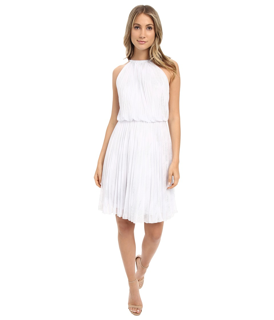 Calvin Klein - Halter Neck Pleated Dress CD6B1U3P (White) Women's Dress