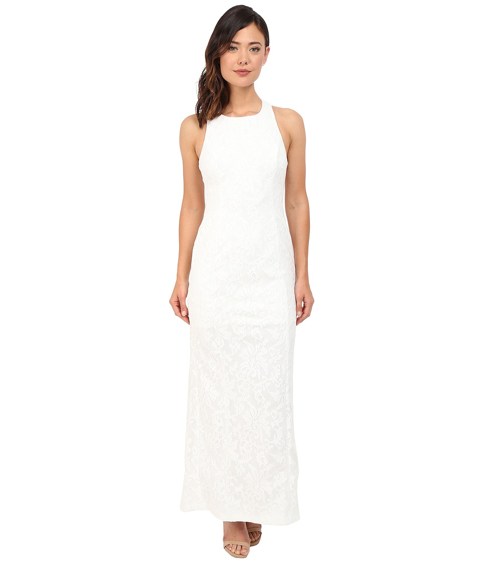 Calvin Klein - Halter Neck Lace Gown CD6B1V6E (White) Women's Dress