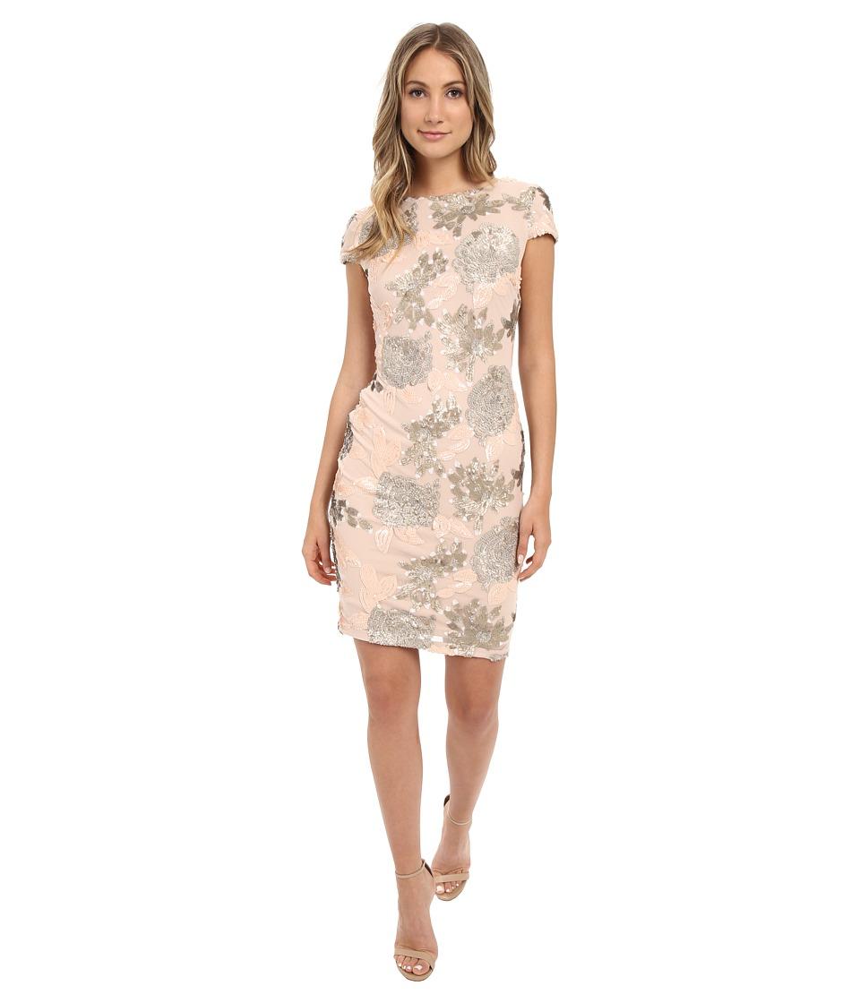 Calvin Klein - Cap Sleeve Sequin Dress CD6B6P9X (Blush) Women's Dress