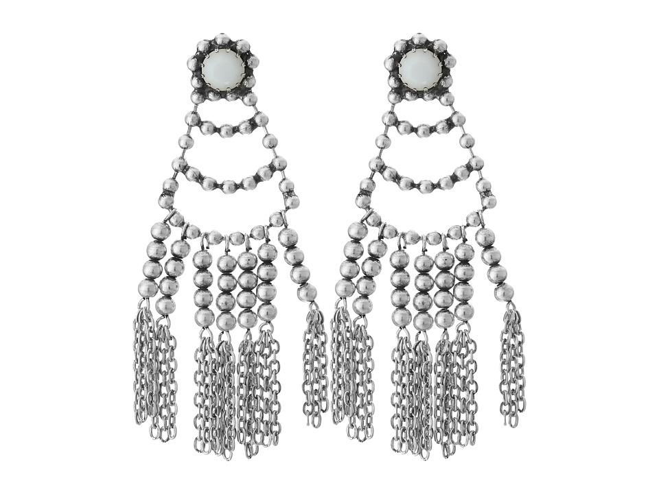 DANNIJO - DOLCI Earrings (Ox Silver/Matte White) Earring