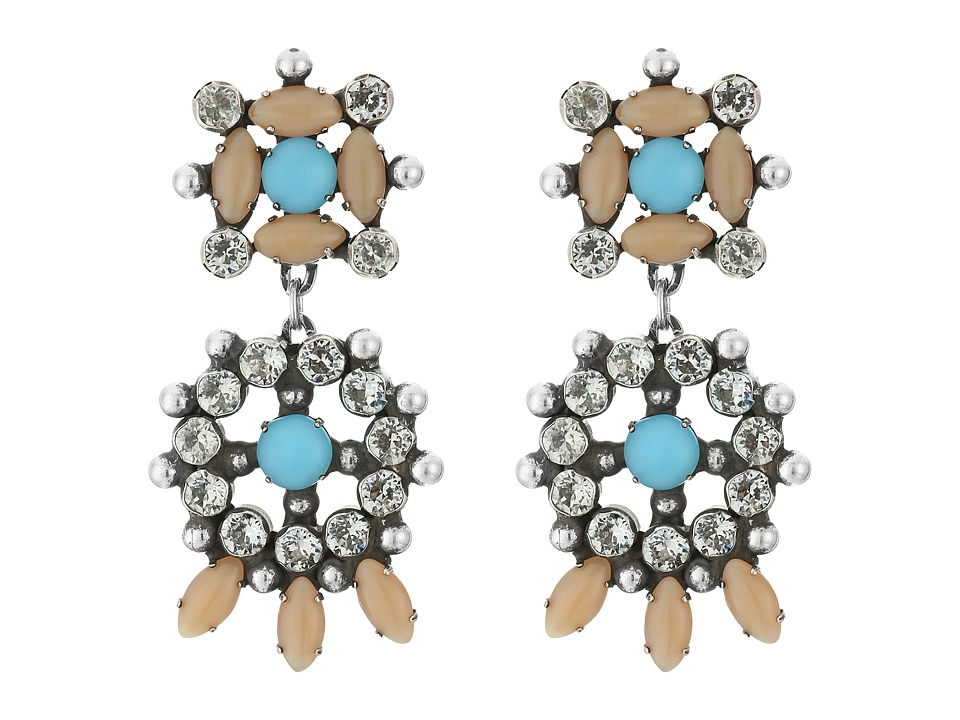 DANNIJO - LAGOS Earrings (Ox Silver/Nude/Turquoise) Earring