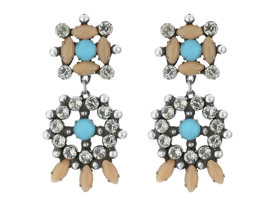 DANNIJO - LAGOS Earrings (Ox Silver/Nude/Turquoise) Earring