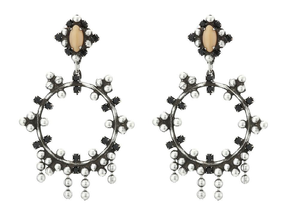 DANNIJO - VALENTIA Earrings (Ox Silver/Black/Nude) Earring