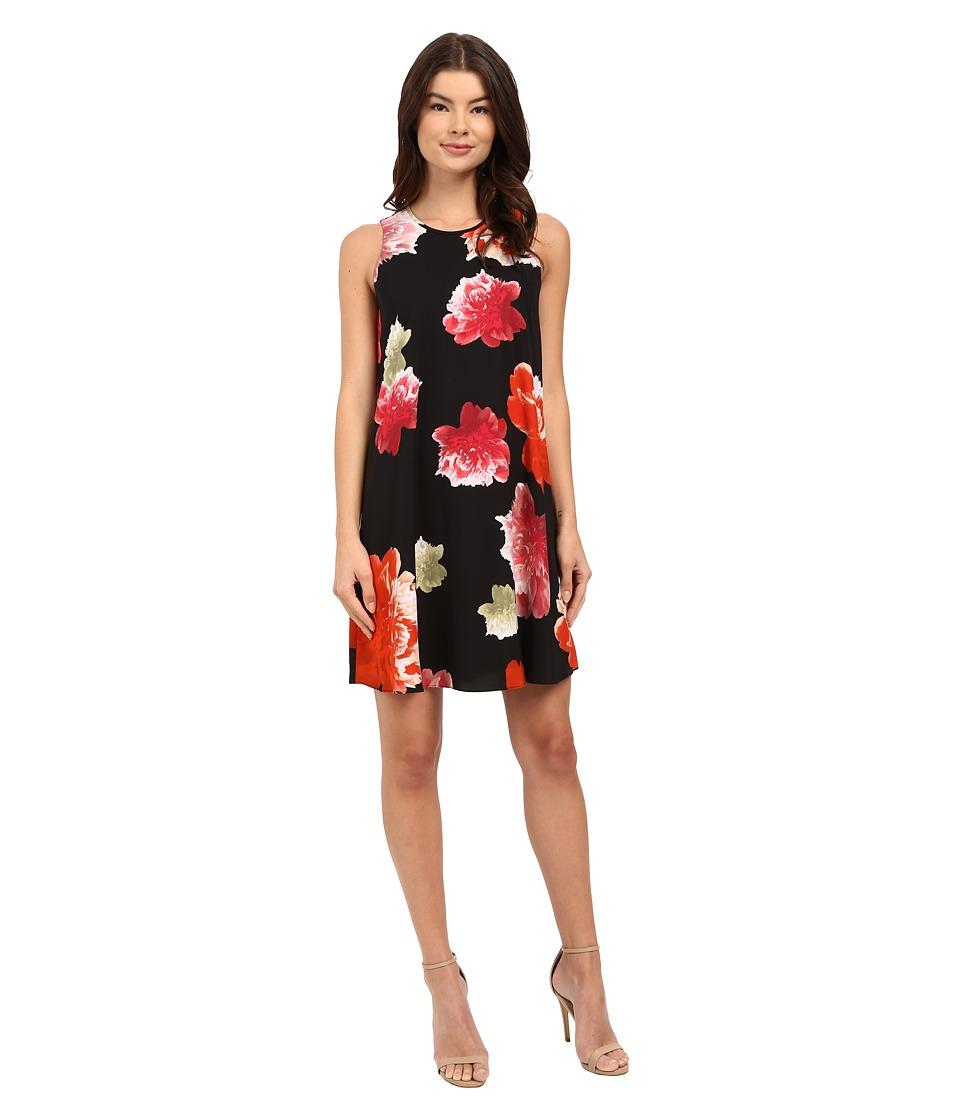 Calvin Klein - Chiffon Floral Dress CD6EVC2R (Black Multi) Women's Dress