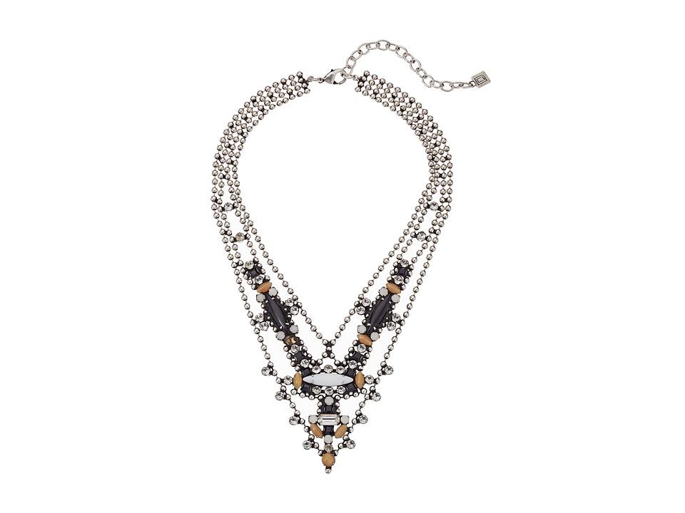 DANNIJO - BASEL Necklace (Ox Silver/Black/Nude) Necklace