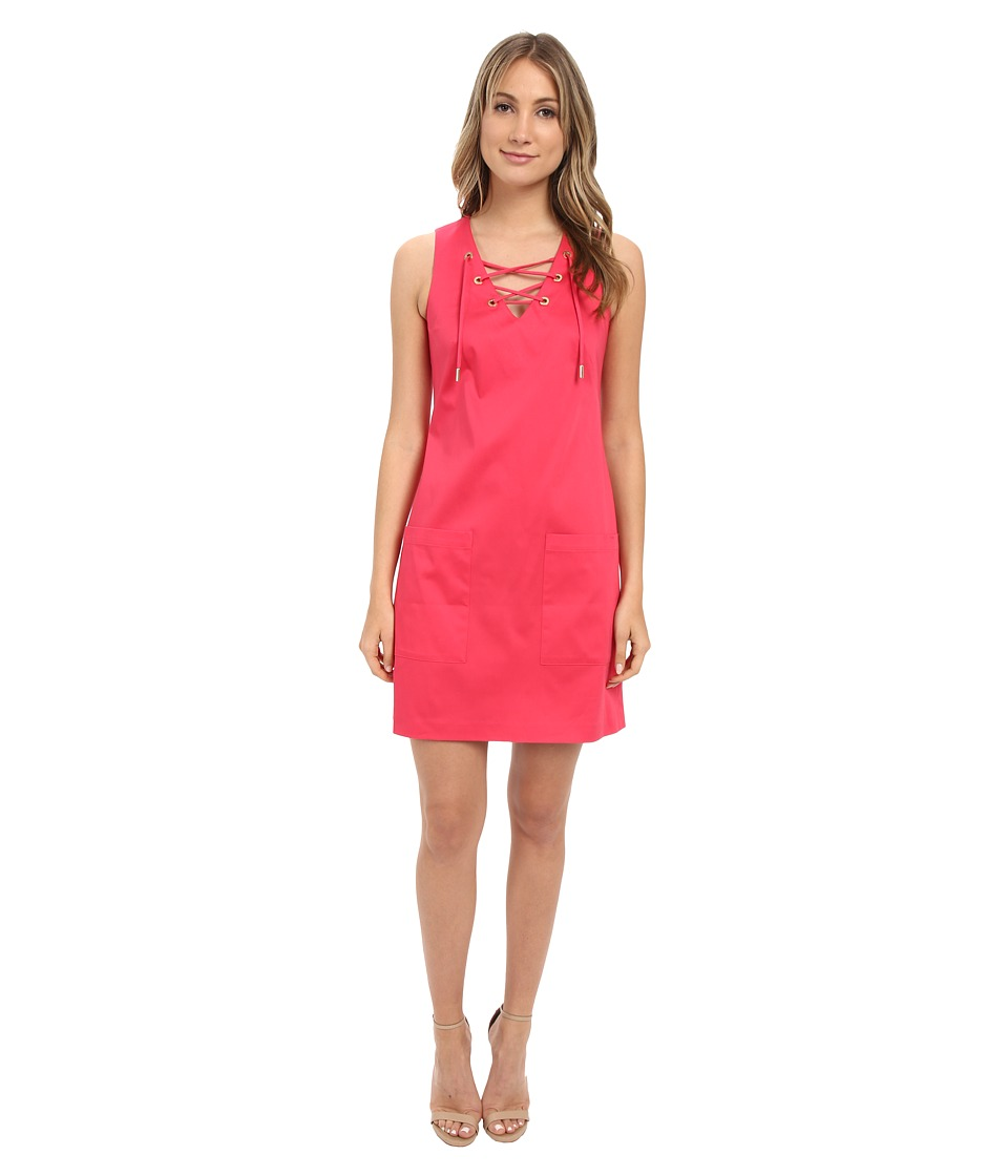 Calvin Klein - Sleeveless Trapize Dress CD6G1Q7F (Watermelon) Women's Dress
