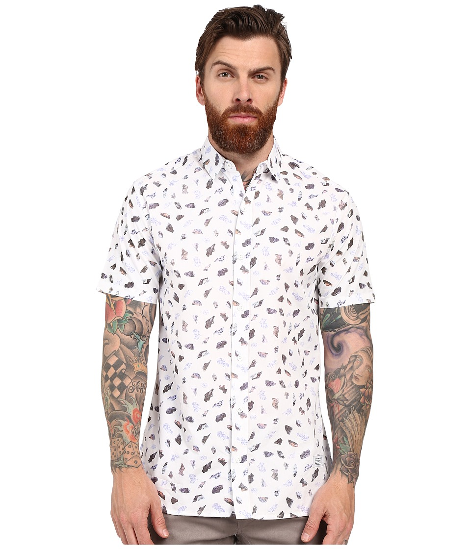 Akomplice - Stones Short Sleeve Button Up (Eggshell) Men's Clothing