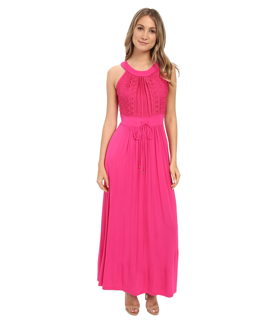 Calvin Klein - Halter Neck Maxi Dress CD6N24Z8 (Hibiscus) Women's Dress