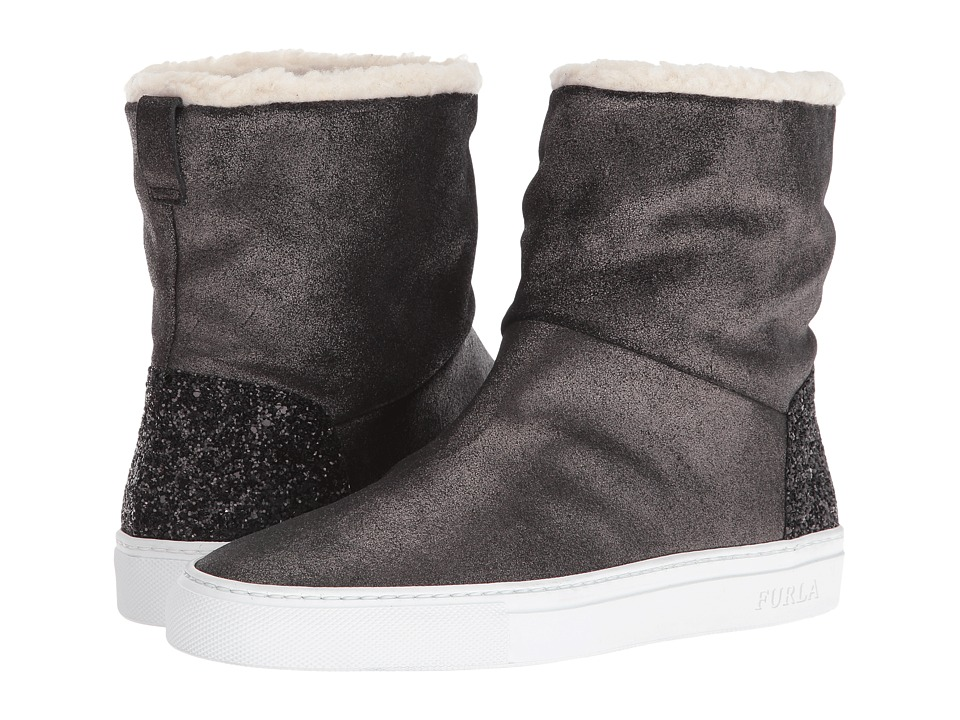 Furla - Megamix Ankle Boot (Onyx/Naturale) Women's Pull-on Boots