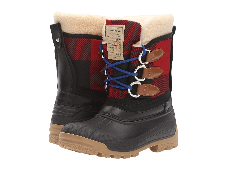 DSQUARED2 - Winter Boot (Black/Red) Women's Cold Weather Boots