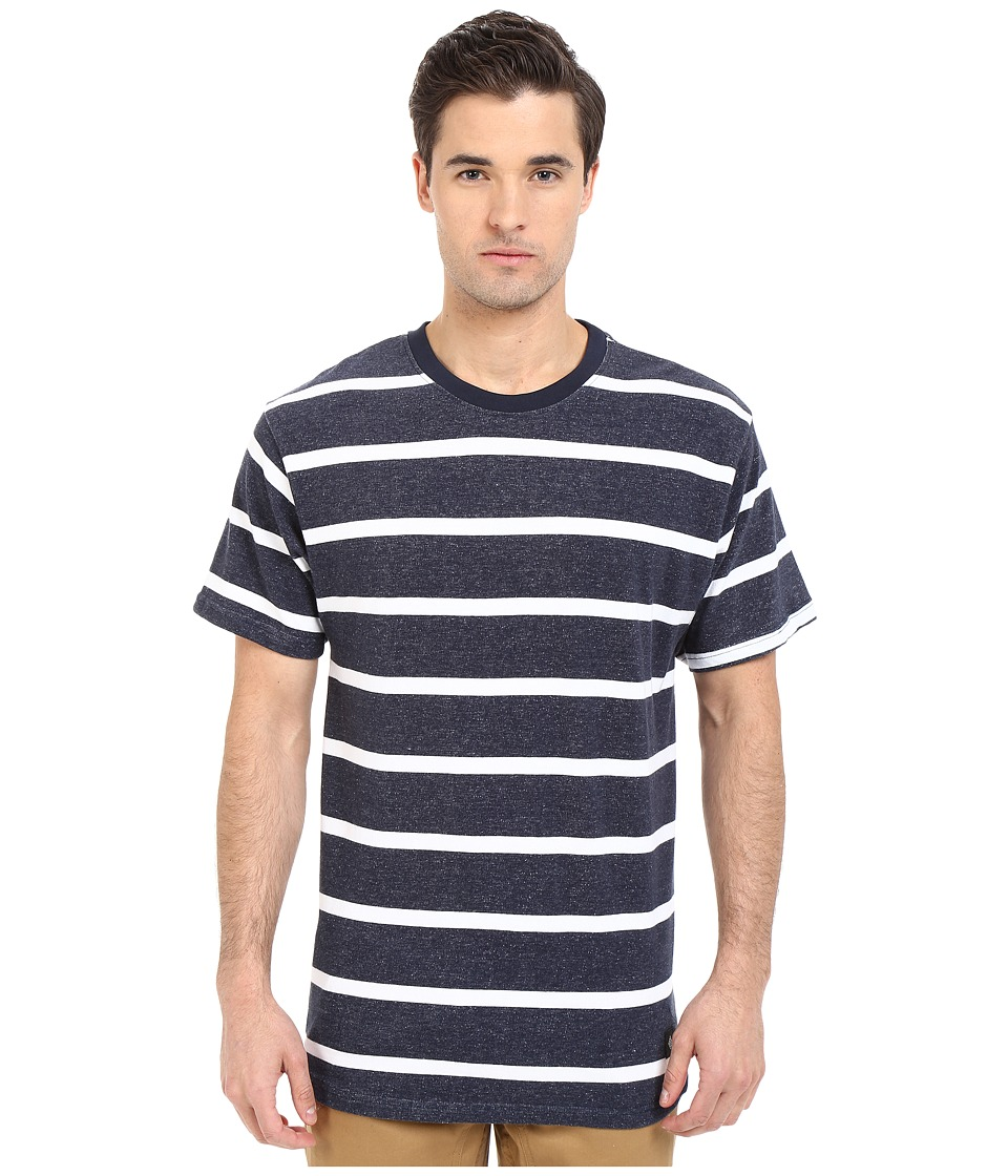 Akomplice - Lincoln (Navy/White) Men's Short Sleeve Pullover