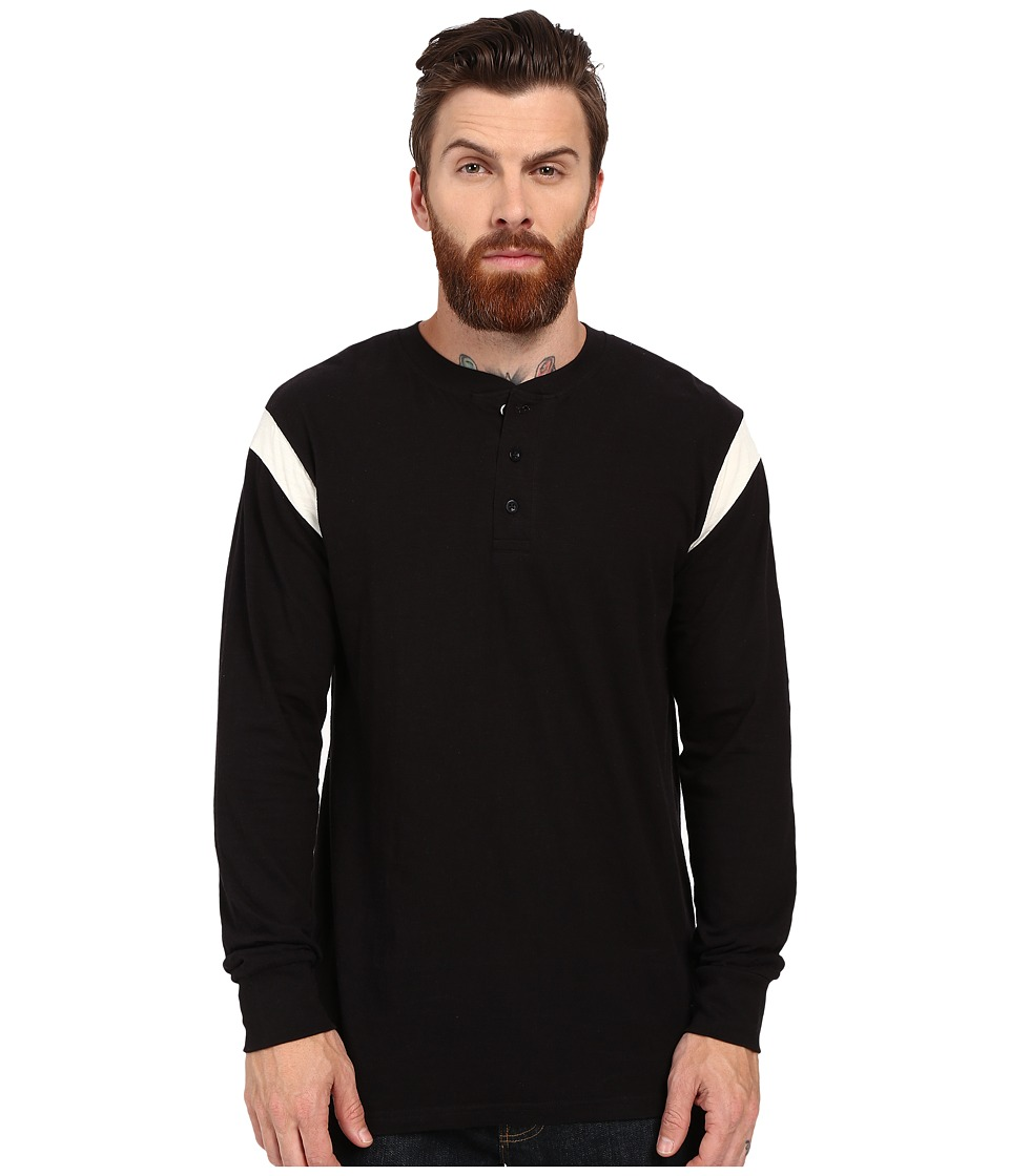Akomplice - Runner Long Sleeve Tee (Black/White) Men's T Shirt