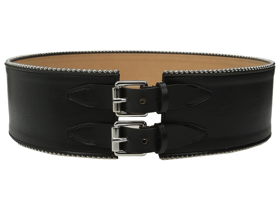 McQ - Back Buckles Cinch (Black) Women's Belts