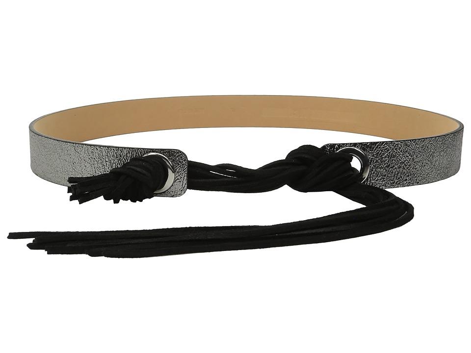 McQ - Fringe Belt (Light Gunmetal) Women's Belts