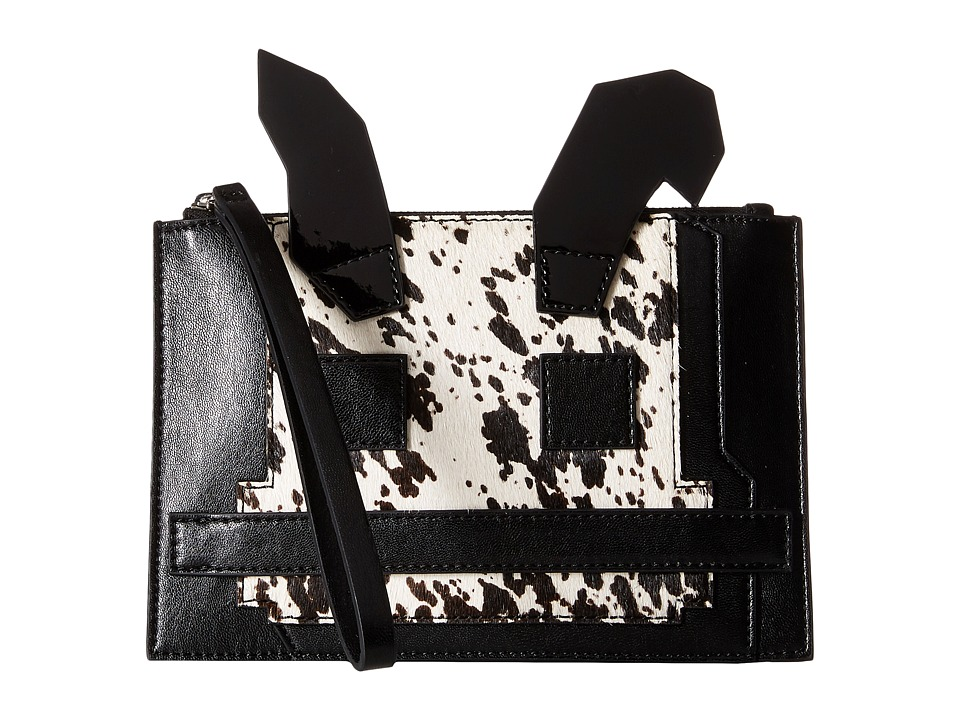 McQ - Electro Bunny Pouch (Black/White Dapple) Travel Pouch