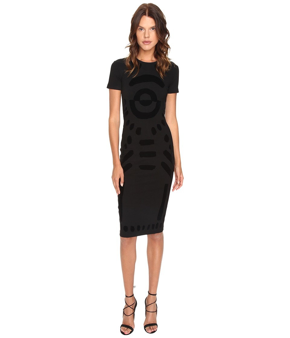 McQ - Long Bodycon Dress (Darkest Black) Women's Dress