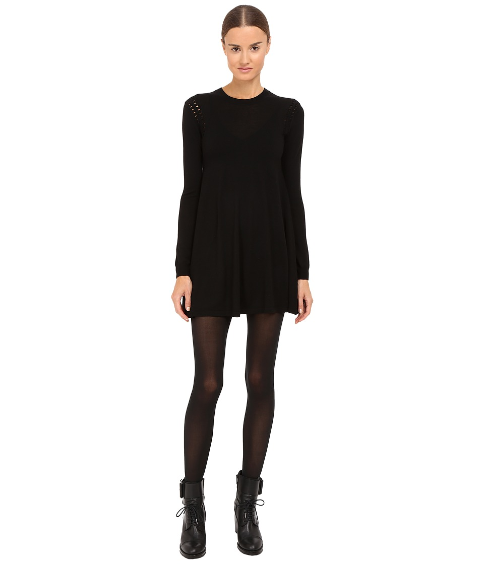 McQ - Crochet Dress (Darkest Black) Women's Dress