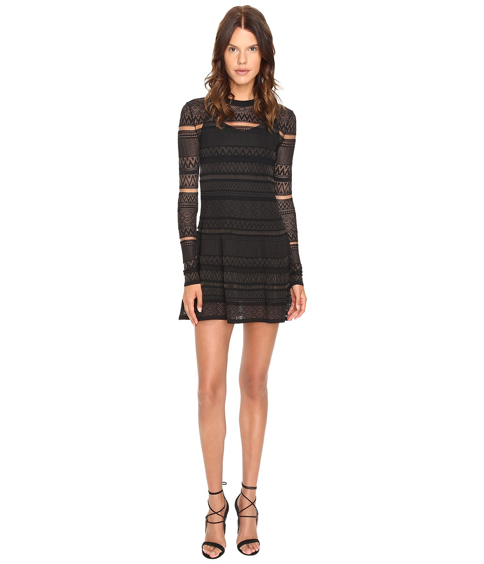 McQ - Lace Skater Dress (Darkest Black) Women's Dress