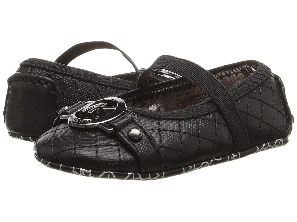 MICHAEL Michael Kors Kids - Baby Gen (Infant/Toddler) (Black Shimmer Saffiano) Girls Shoes